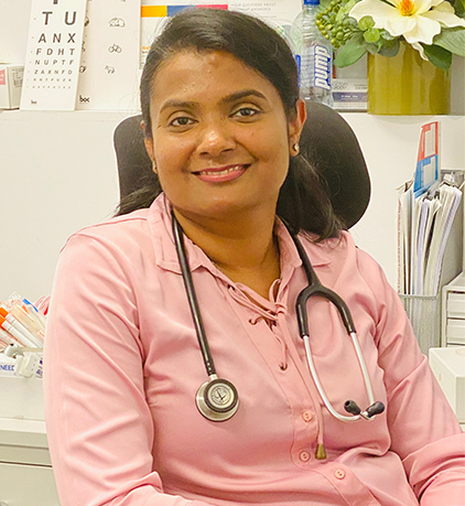 female general practitioner with stethoscope